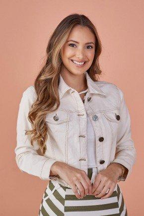 jaqueta feminina bege claro jeans tata martello