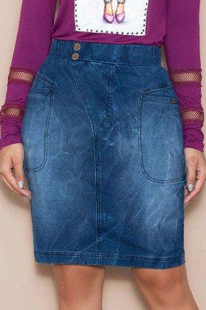 saia em malha denim lavagem especial nitido jeans
