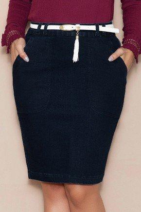 saia secretaria jeans black nitido jeans