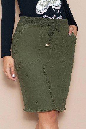 saia jeans verde militar cos em ribana nitido jeans baixo