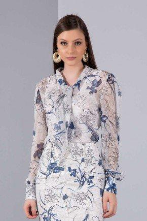 camisa off white floral gola laco titanium jeans cima