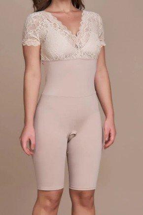 body modelador nude com renda titanium jeans