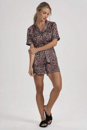 pijama feminino animal print glaucia principessa