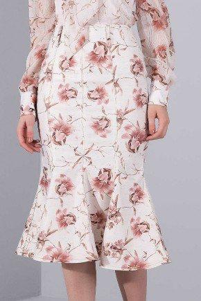 saia sino estampa floral rose titanium jeans baixo