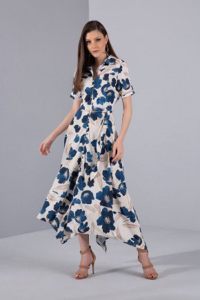 vestido maxi midi floral barra assimetrica titanium jeans
