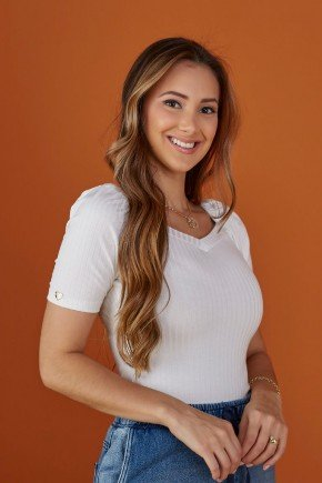 blusa feminina canelada off white tata martello