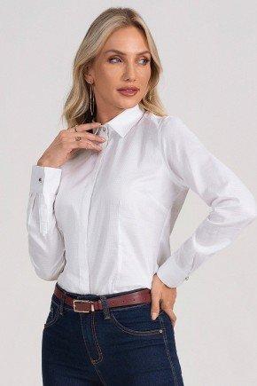 camisa social feminina branca hanna