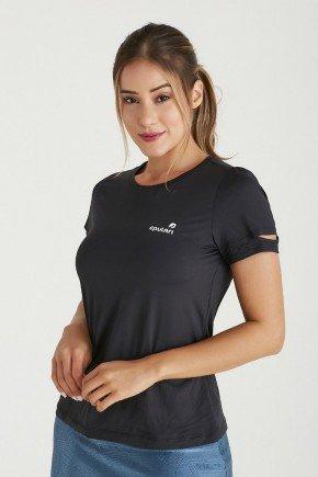 blusa feminina preta manga curta poliamida protecao uv50 epulari