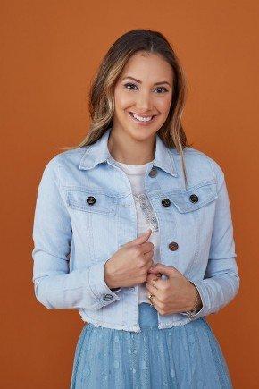 jaqueta feminina jeans azul claro tata martello