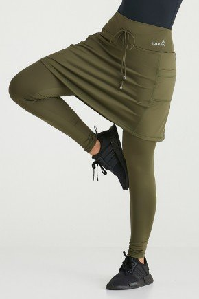 saia calca verde militar termica peluciada protecao uv50 epulari ep019vd 2