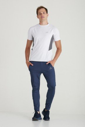 calca fitness masculino azul recorte lateral dry fit protecao uv50 holyfit hf0202 1