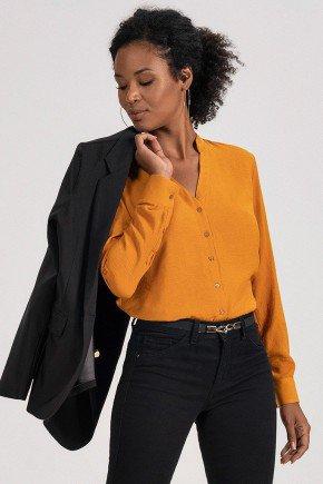 camisa mostarda manga longa iolanda