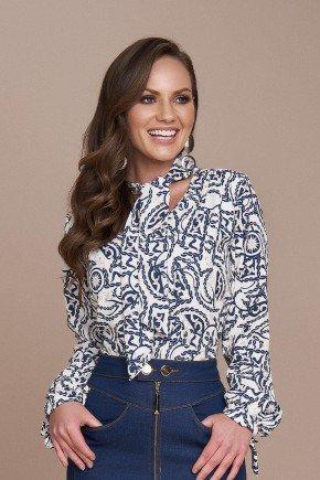 blusa estampa exclusiva em correntes titanium jeans cima