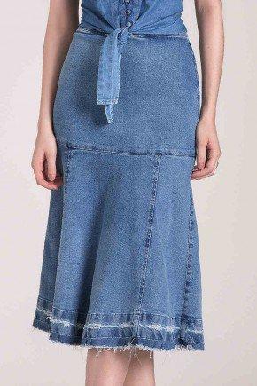 saia sino jeans barra desfeita laura rosa baixo