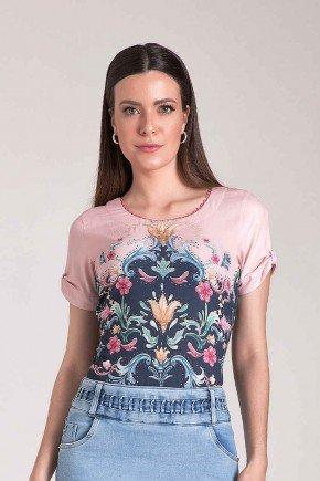 t shirt estampa exclusiva laura rosa
