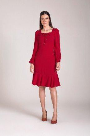 vestido sino plano vermelho laura rosa