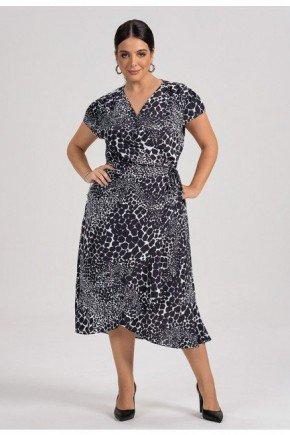 vestido principessa animalprint ianca plus1