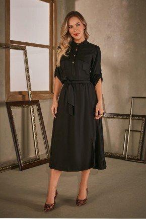 vestido preto alfaiataria midi via tolentino