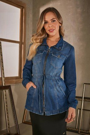 jaqueta jeans bolsos frontais via tolentino