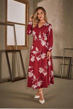 vestido estampado longuete via tolentino