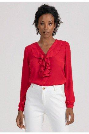 camisa vermelha com babado isis