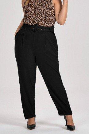 calca preta de alfaiataria plus size gaya