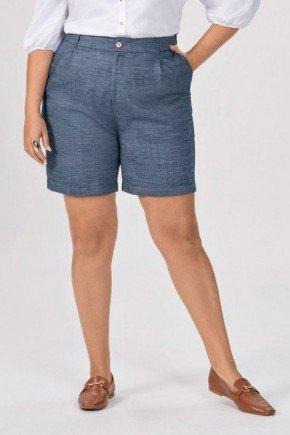bermuda jeans plus size com cos anatomico evangelina