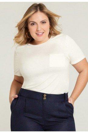 t shirt plus size off white com bolso valente