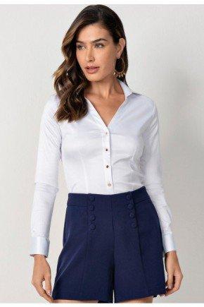 camisa social feminina branca constantine