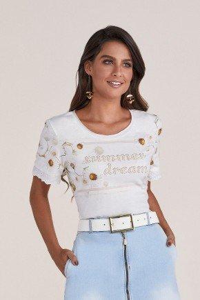 t shirt branca estampada titanium jeans cima