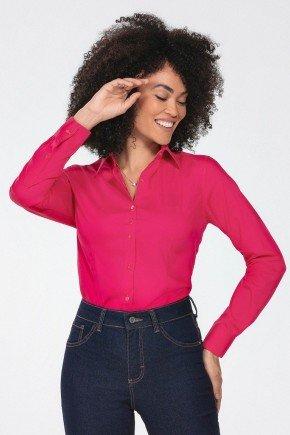 camisa feminina manga longa pink jaciara