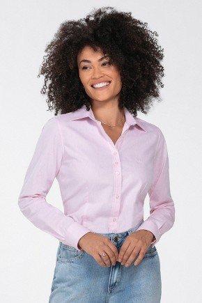 camisa social feminina rosa jandira