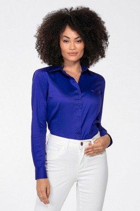 camisa feminina azul royal judy