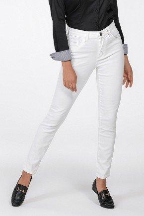 calca feminina sarja branca justina frente