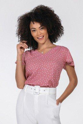 blusa rosa de poa karina