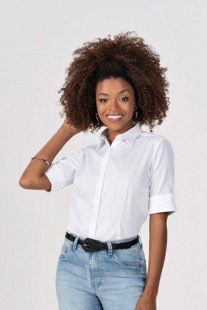 camisa feminina branca com manga 34 principessa cima