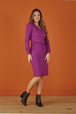 conjunto violeta em trico canelado tata martello