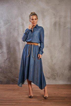 vestido jeans barra assimetrica via tolentino