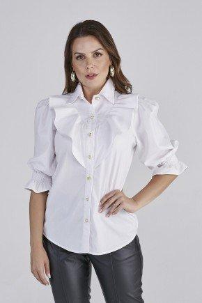 camisa off white carla cloa frente