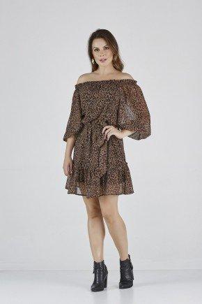 vestido onca detalhes luana cloa