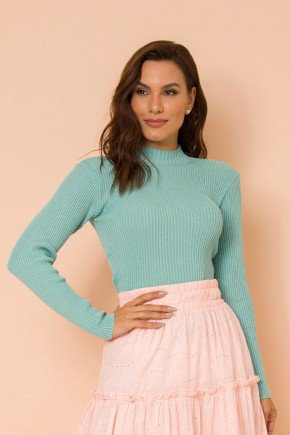 blusa fio trico verde magali lekazis cima
