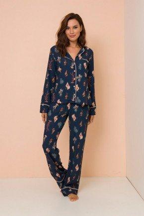 pijama conjunto manga longa com calca hosana lekazis