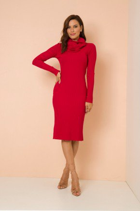 vestido tubinho vermelho malha canelada edna lekazis