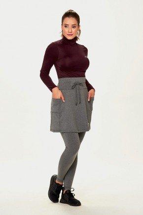 saia calca comprida mescla termica peluciada quentinha com protecao uv50 epulari frente bolsos