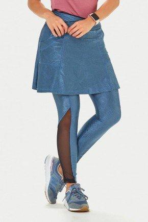 saia calca comprida jacquard azul alta compressao protecao uv50 epulari zoom frente