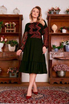vestido tule de poa e bordados industriais fascinius