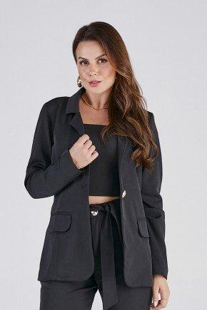 blazer preto donatella cloa cima