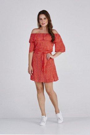 vestido carol vermelho babado