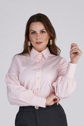 camisa feminina rose manga longa cloa cima