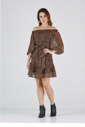 vestido luana animal print cloa